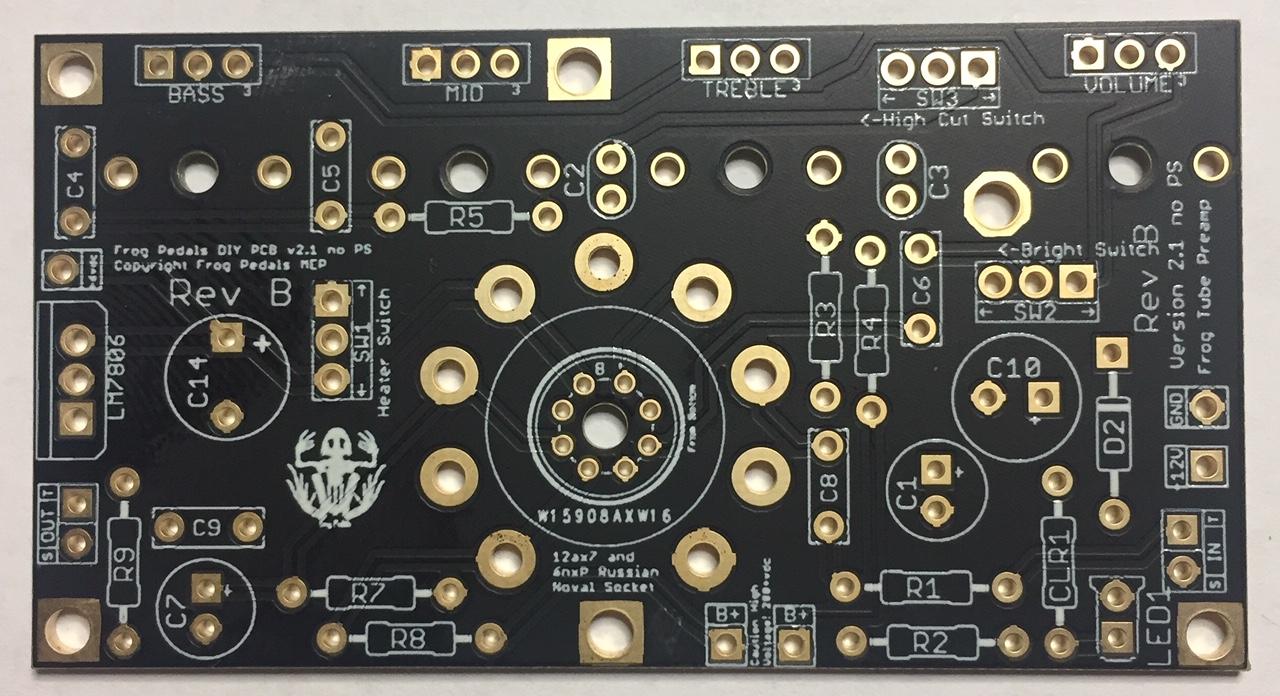 Frog Tube Preamp 2 1 Version B PCB for DIY